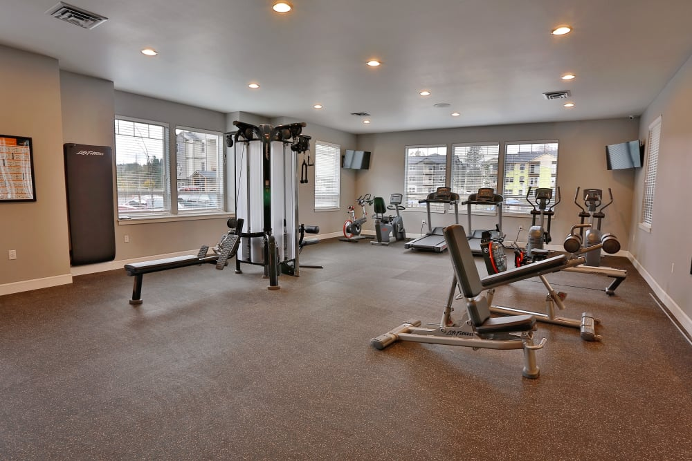 Gym for residents at The Fairway Apartments in Salem, Oregon