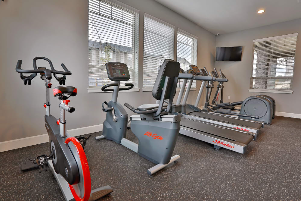 Fitness center at The Fairway Apartments in Salem, Oregon