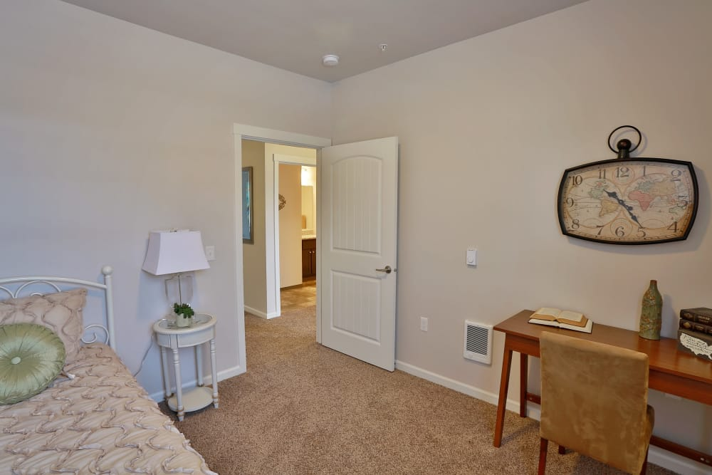 Spacious bedroom at The Fairway Apartments in Salem, Oregon