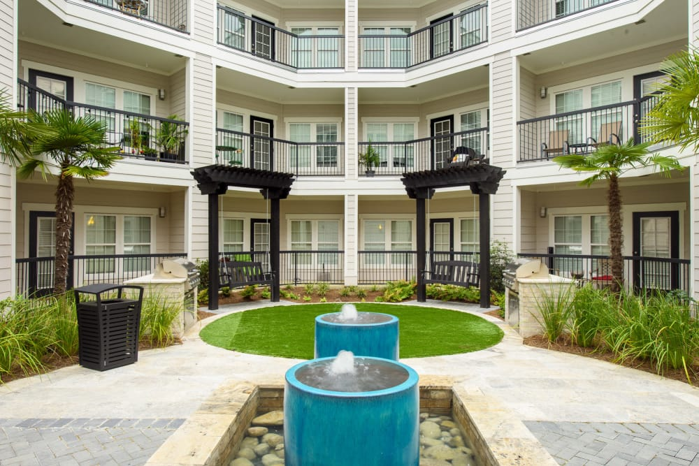 Private Courtyards Park Rowe Village at Perkins Rowe in Baton Rouge, Louisiana
