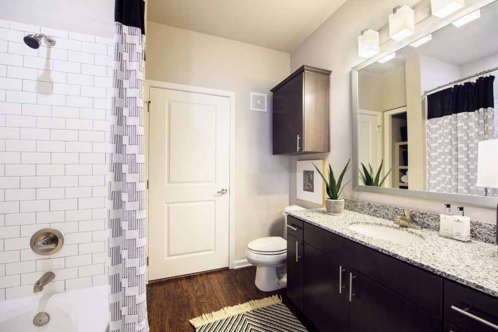 Luxurious Apartment Bathroom at Park Rowe Village at Perkins Rowe