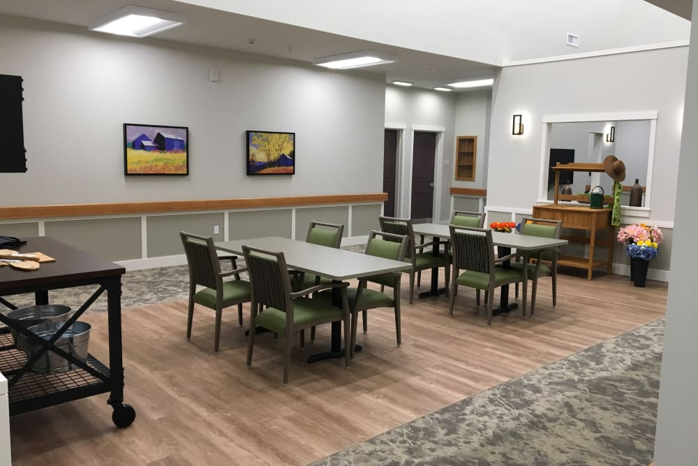 Dining area at Pear Valley Senior Living