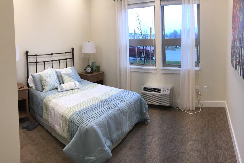 Model bedroom at Pear Valley Senior Living