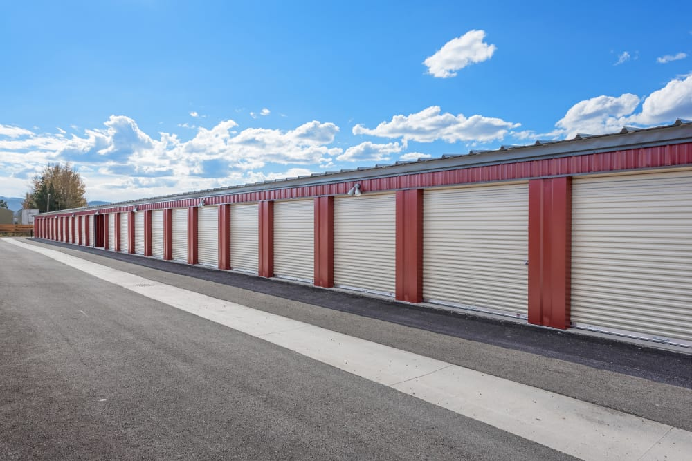 Storage units at Summit Self-Storage in Victor, Idaho