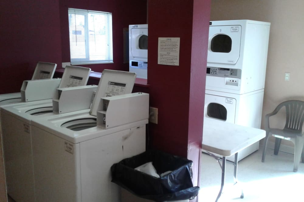 Onsite laundry facility at Meadows Townhomes in Fort Lupton, Colorado