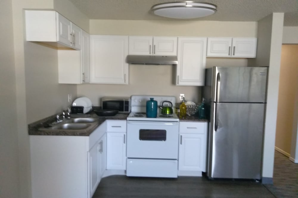 Beautiful kitchen at The Trees in Denver, Colorado