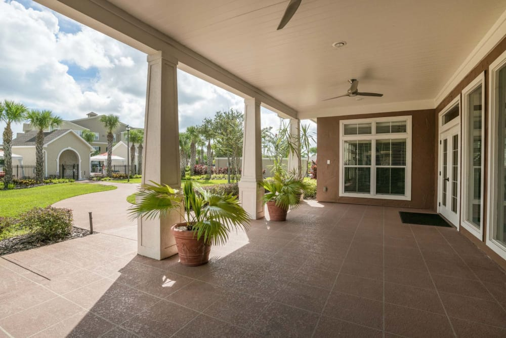 Outdoor Lobby at The Haven at West Melbourne in West Melbourne, Florida