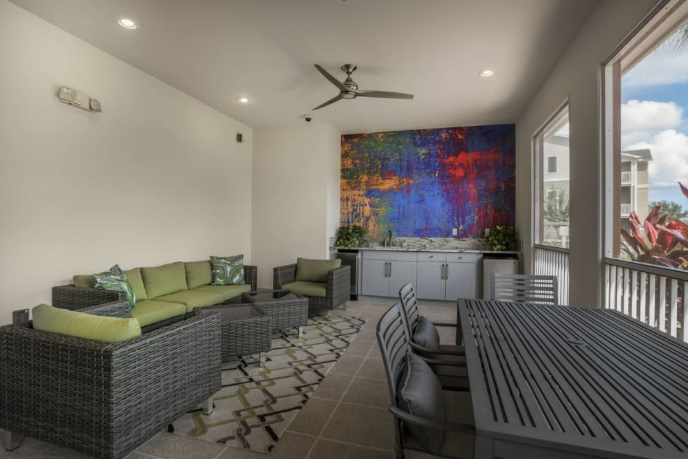 Outdoor Lounge at Our Apartments in West Melbourne, Florida