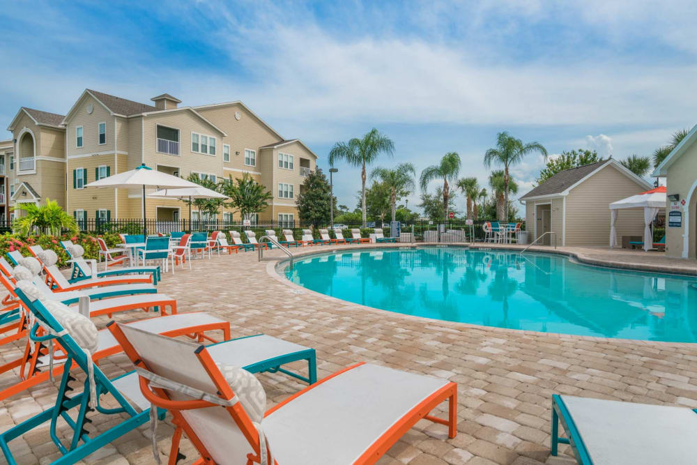 Our Apartments in West Melbourne, Florida showcase a Beautiful Swimming Pool