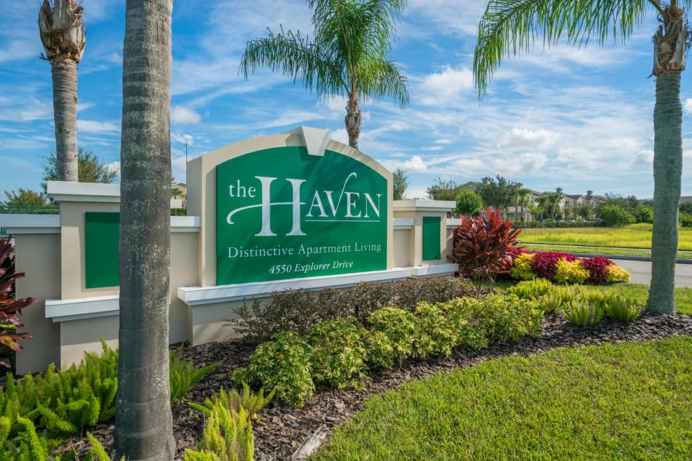 Entrance Signage at The Haven at West Melbourne in West Melbourne, Florida