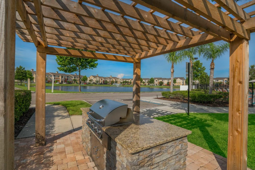 BBQ Area at The Haven at West Melbourne in West Melbourne, Florida