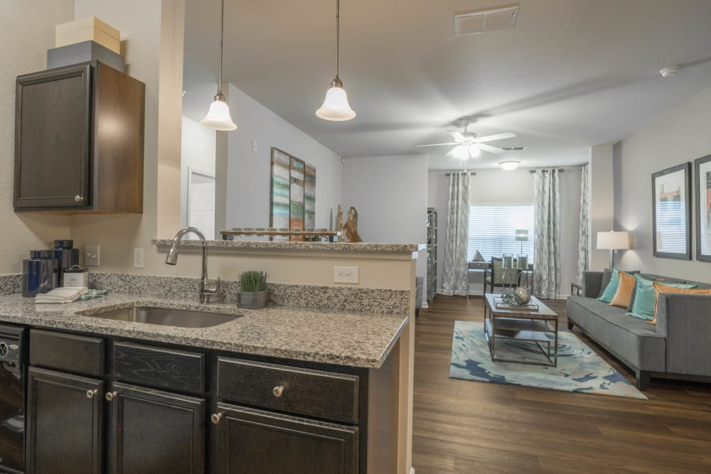 Kitchen & Living Room at The Haven at West Melbourne in West Melbourne, Florida
