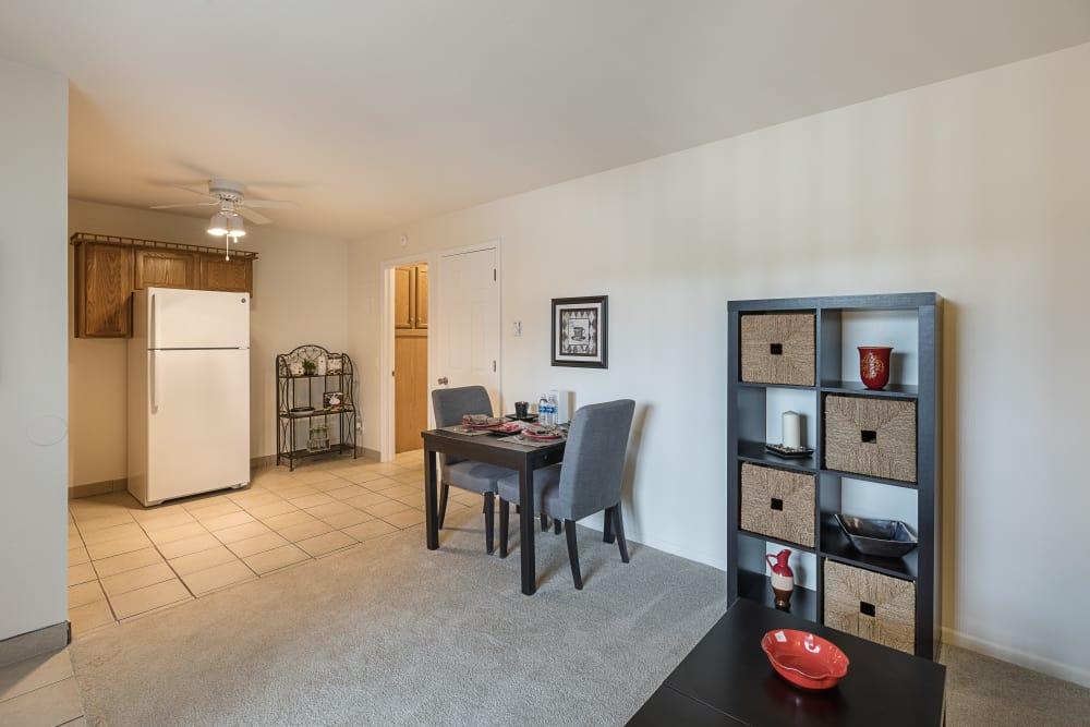 Spacious floor plans at Creek Club Apartments in Williamston, Michigan
