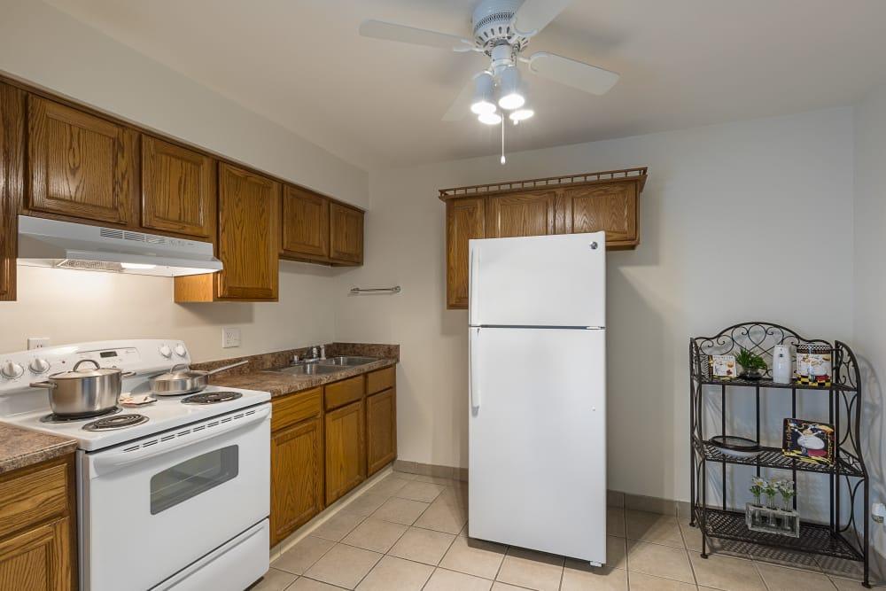 Kitchen at Creek Club Apartments in Williamston, Michigan