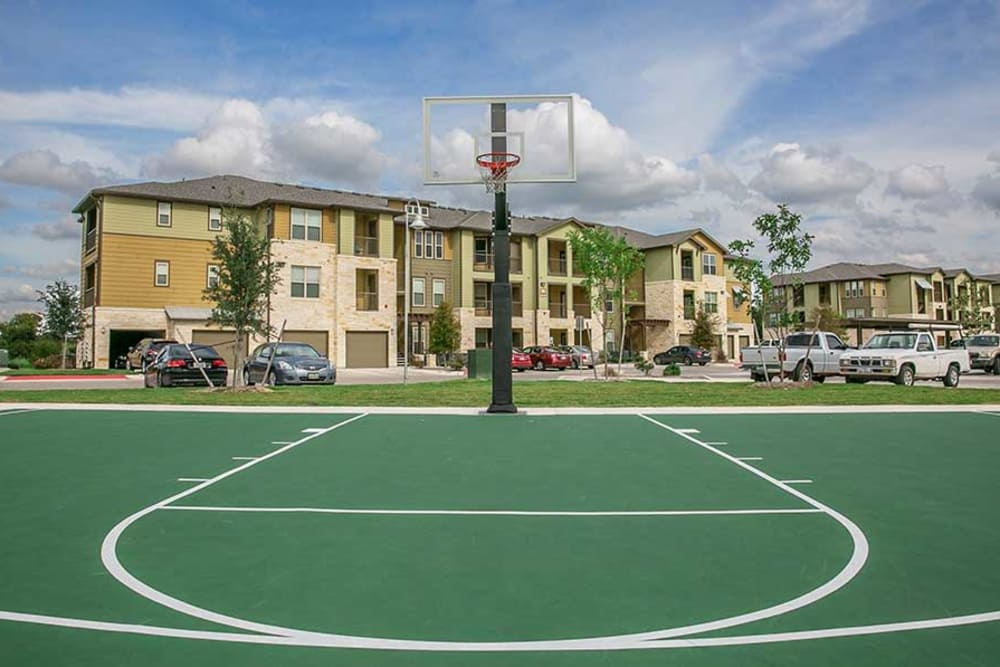 Basketball court at Pecos Flats in San Antonio, Texas