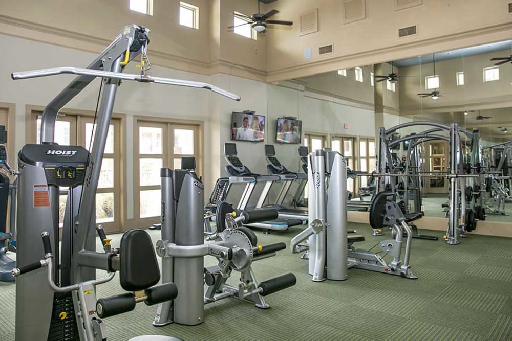 Fitness center for residents at Pecos Flats in San Antonio, Texas