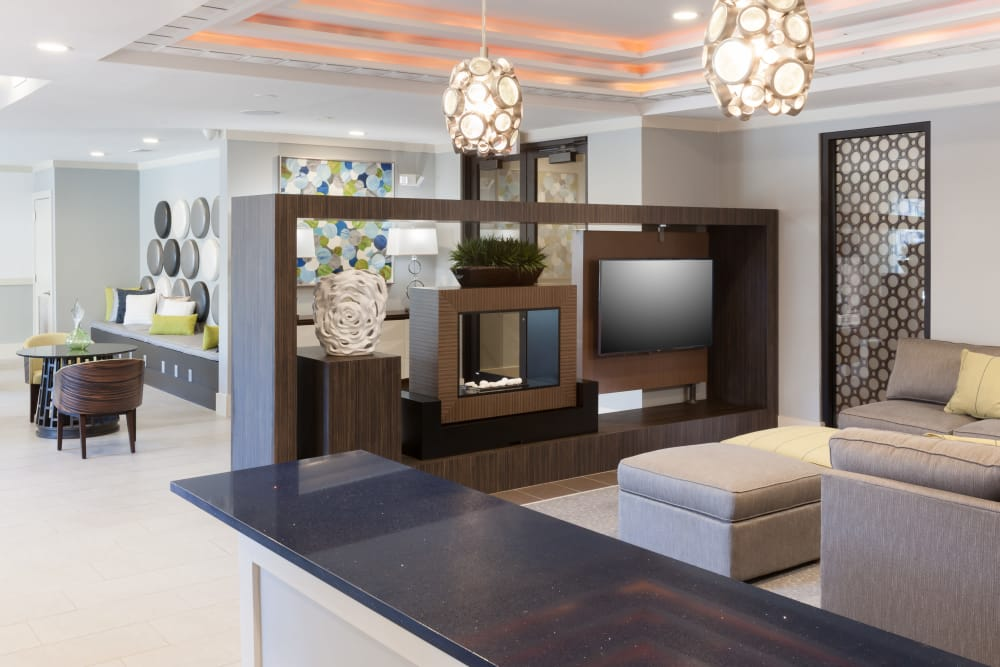 Luxury clubhouse for residents at Axis 3700 in Plano, Texas