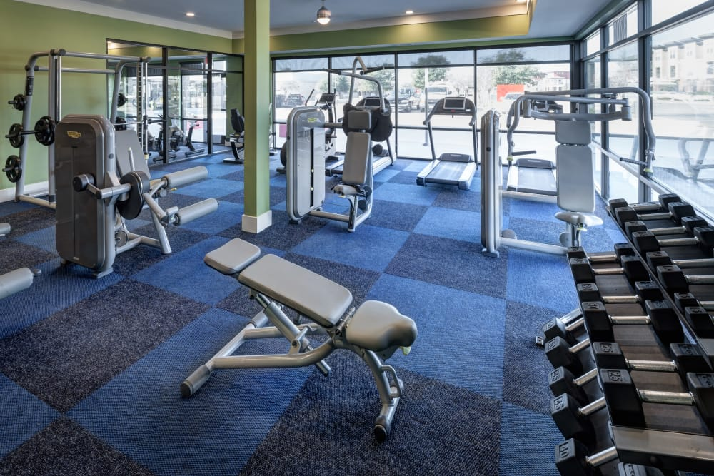 Onsite fitness center at Axis 3700 in Plano, Texas