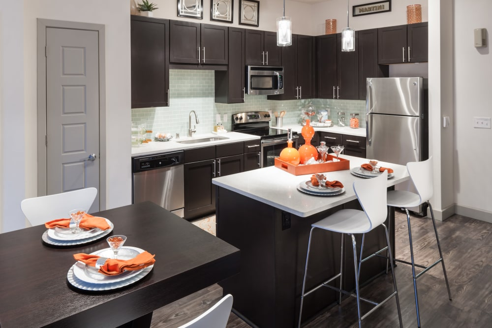 Kitchen at Axis 3700 in Plano, Texas