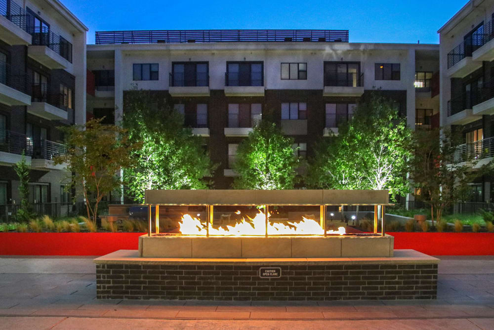 Cozy fire pit at Axis 3700 in Plano, Texas