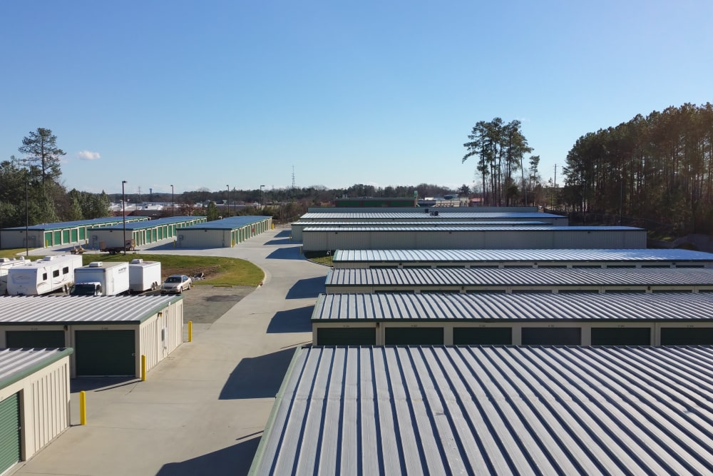 Exterior Storage Units at Cardinal Self Storage - East Raleigh in Raleigh, North Carolina
