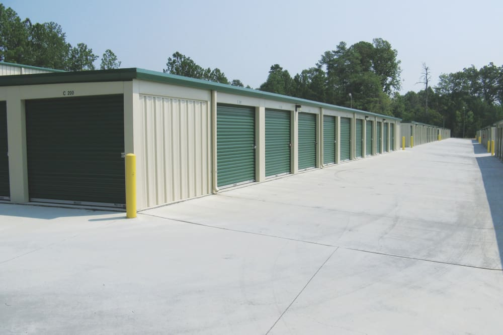 Storage facility Exterior Storage Units at Cardinal Self Storage - East Raleigh in Raleigh, North Carolina