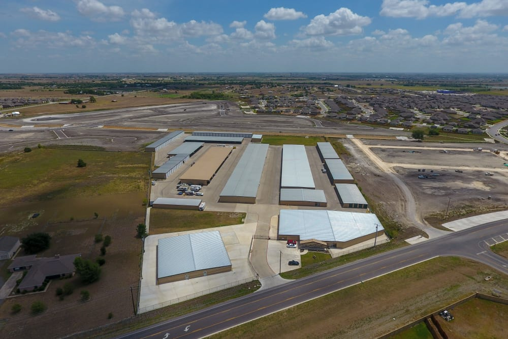 Aerial photo of CR 110 Self Storage in Round Rock, Texas