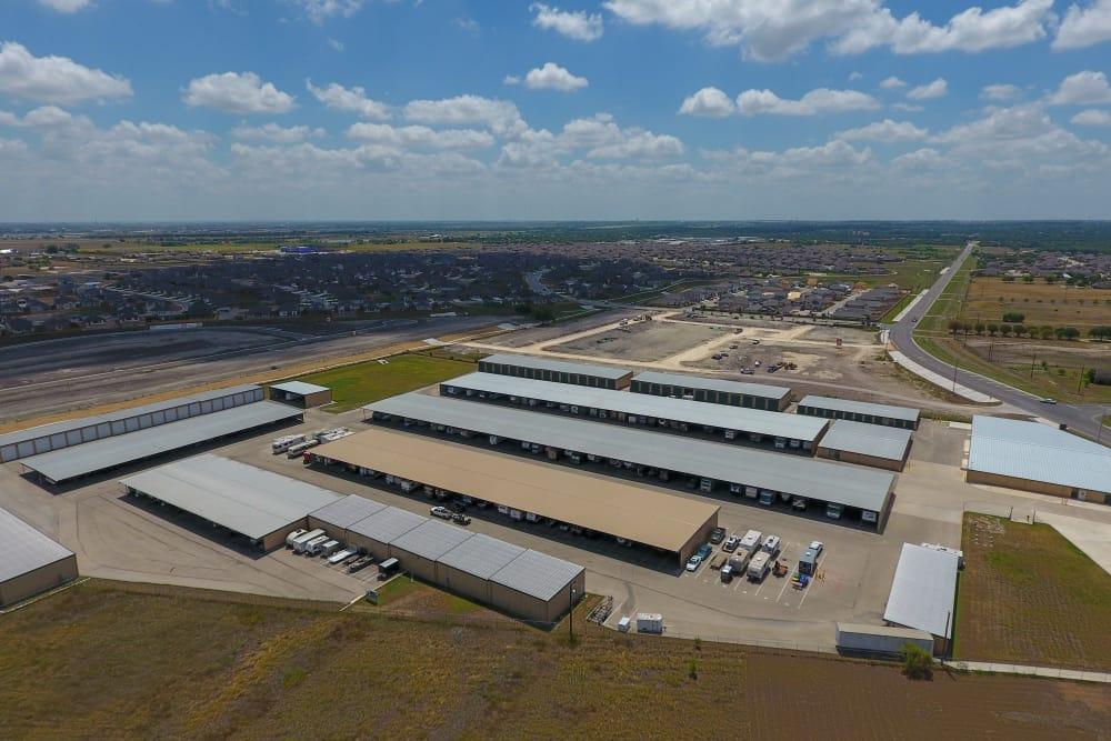 Drive-up storage at CR 110 Self Storage in Round Rock, Texas