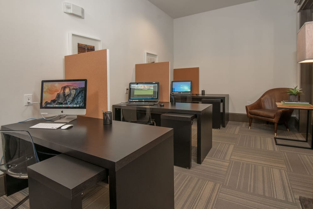 Community office area at Carrington Oaks in Buda, Texas