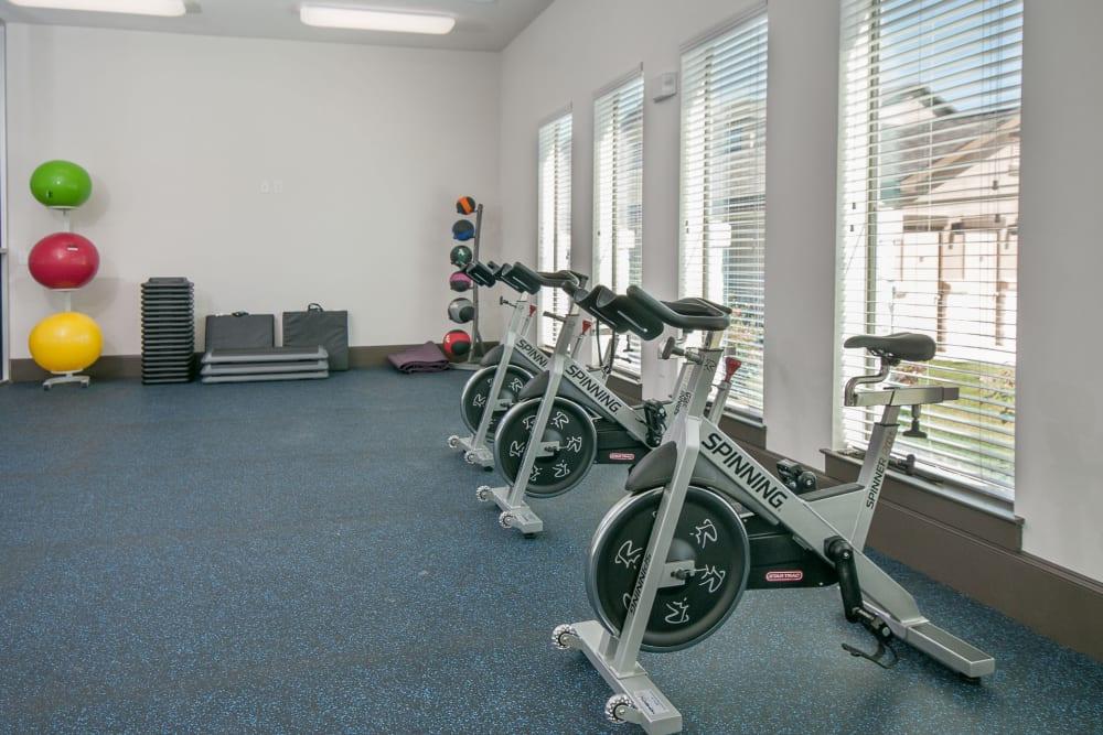 Workout area at Carrington Oaks in Buda, Texas