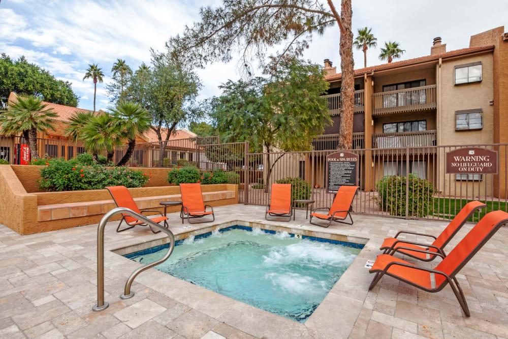 Hot Tub at Renaissance Apartment Homes in Phoenix, Arizona