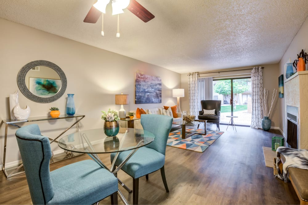 Dining Nook & Living Room at Renaissance Apartment Homes in Phoenix, Arizona