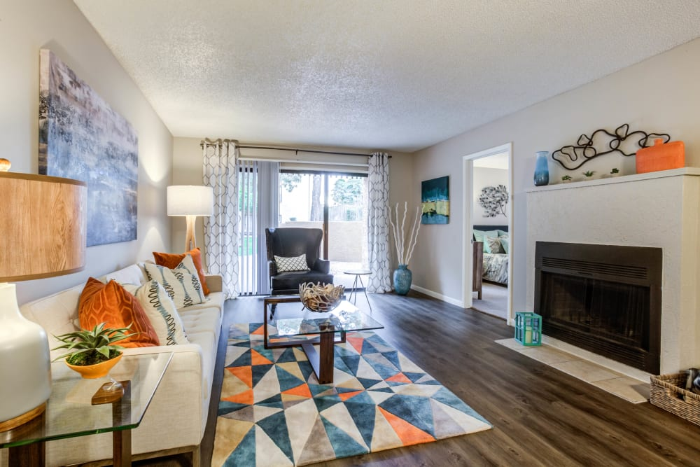 Living Room at Renaissance Apartment Homes in Phoenix, Arizona