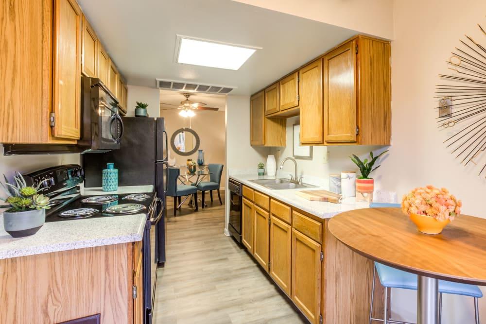 Kitchen at Renaissance Apartment Homes in Phoenix, Arizona