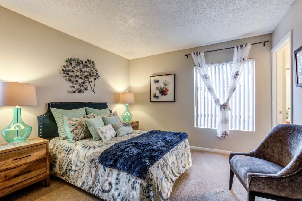 Bedroom at Renaissance Apartment Homes in Phoenix, Arizona