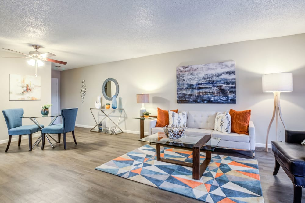 Spacious Living Room at Renaissance Apartment Homes in Phoenix, AZ