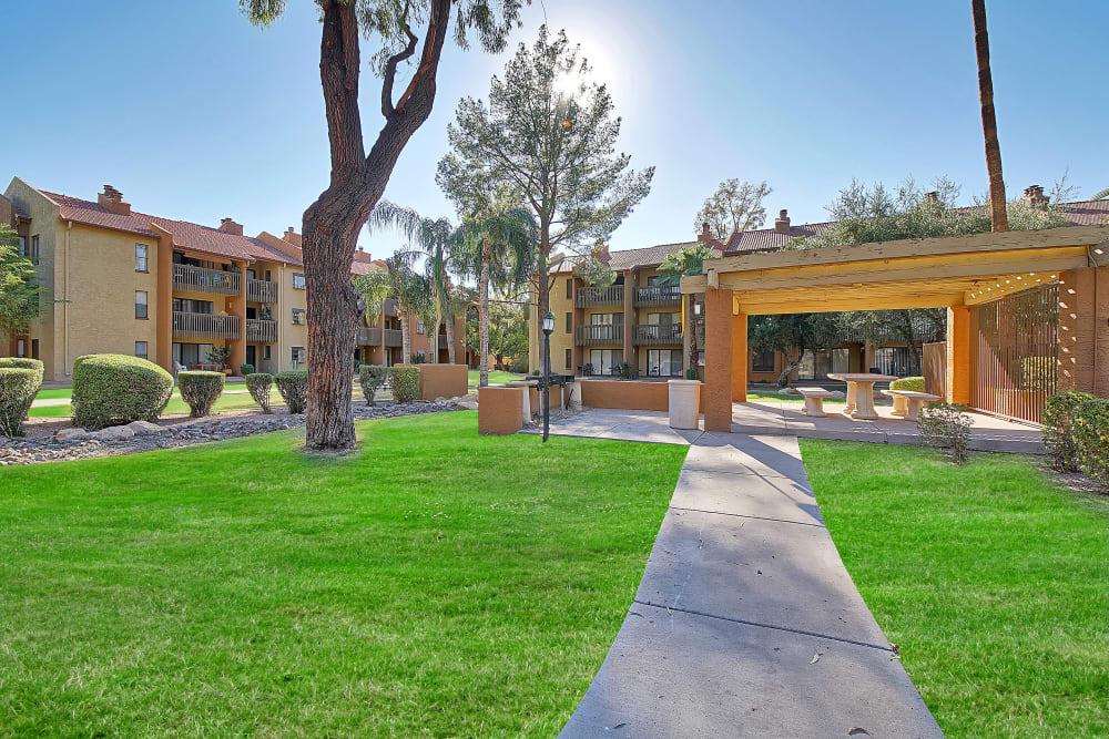 Outdoor BBQ Area at Renaissance Apartment Homes in Phoenix, Arizona