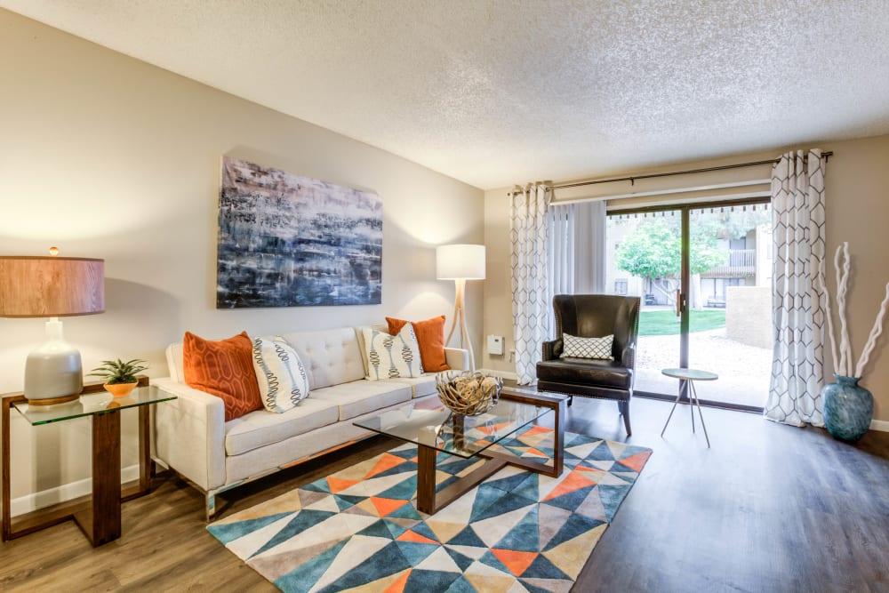 Spacious Living Room at Renaissance Apartment Homes in Phoenix, Arizona