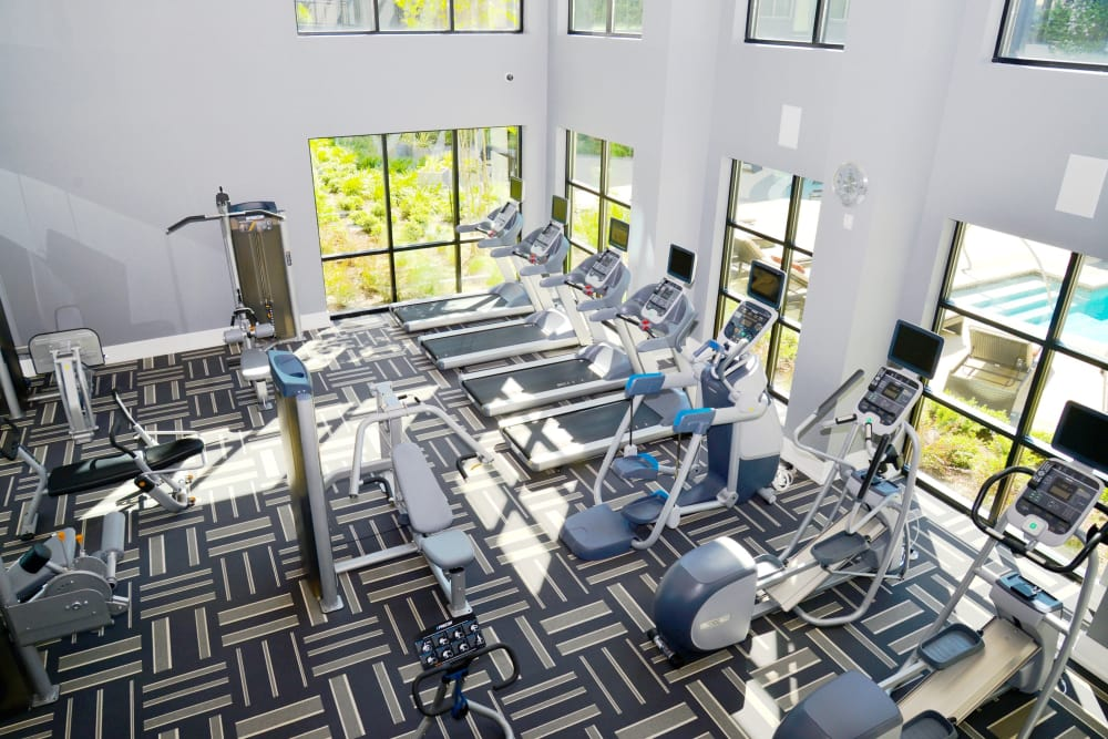 Axis at Wycliff offers a fitness center for residents in Dallas, Texas