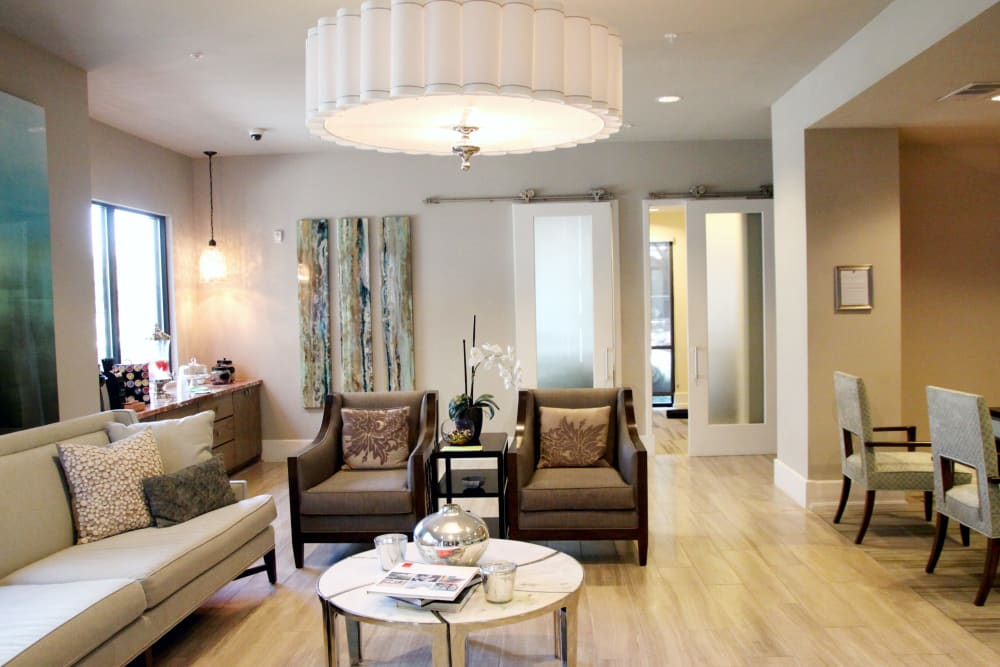 Clubhouse interior at Axis at Wycliff in Dallas, Texas