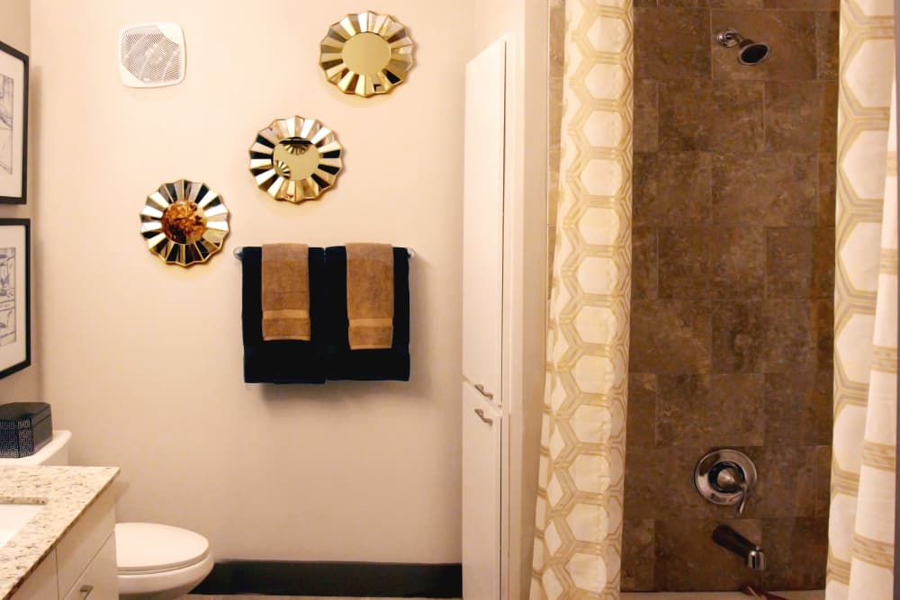 Bathroom at Axis at Wycliff in Dallas, Texas