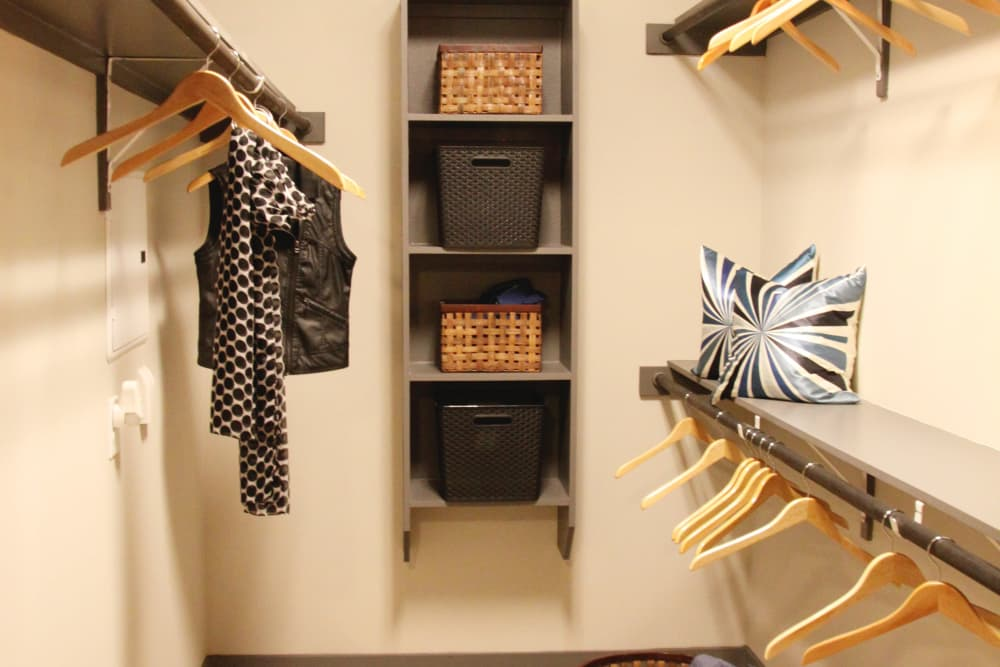 Spacious closets at Axis at Wycliff in Dallas, Texas