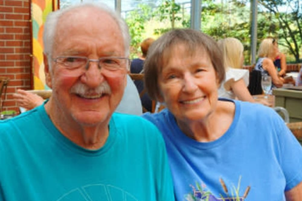 Couple attending an event at Campus Commons Senior Living in Sacramento, California