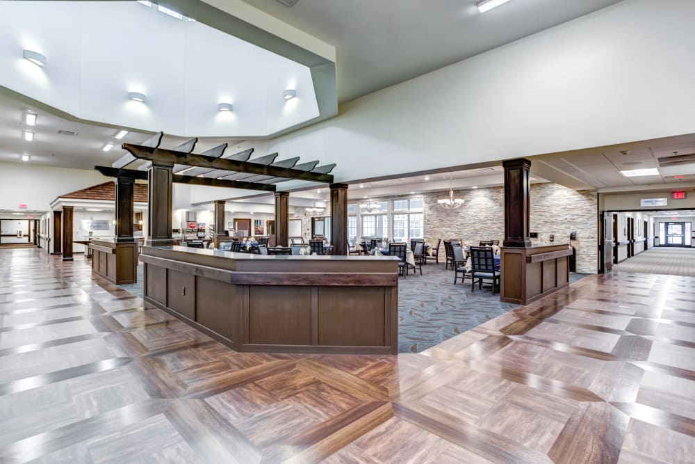 The community dining room at The Springs at Stony Brook in Louisville, Kentucky