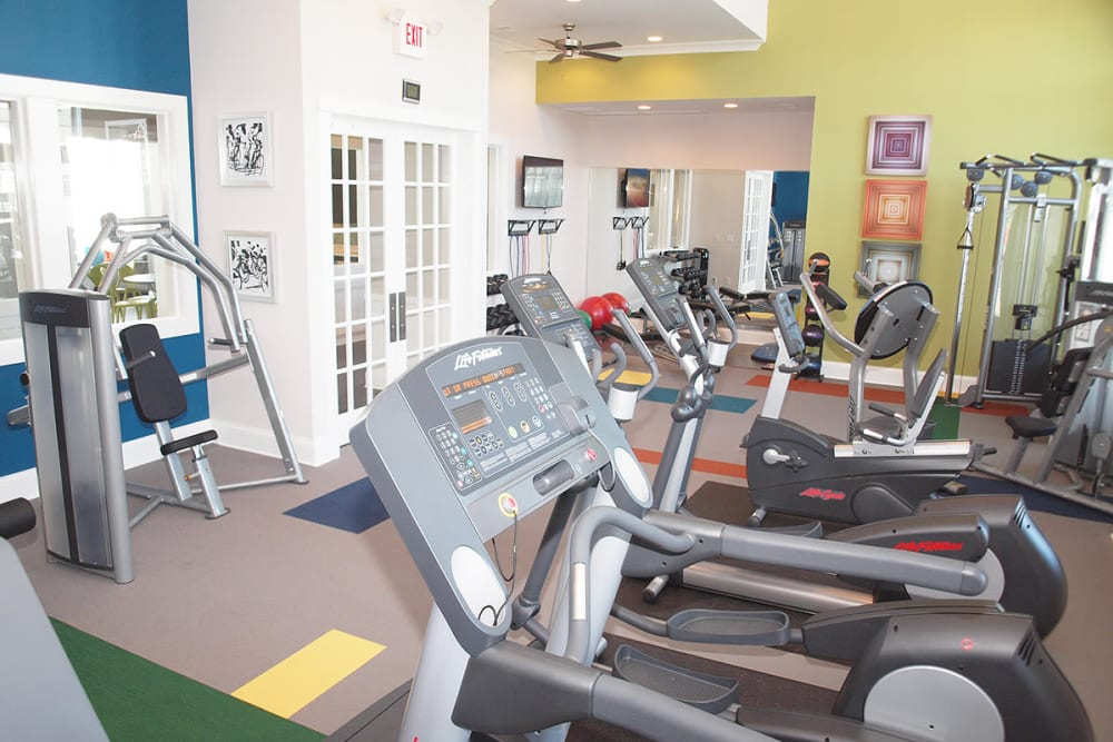 Fitness center with modern equipment at Greyson on 27 in Nicholasville, Kentucky