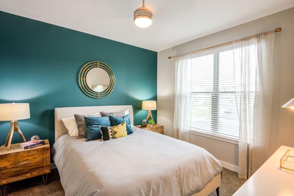 Naturally lit bedroom at Flats At 540 in Apex, North Carolina