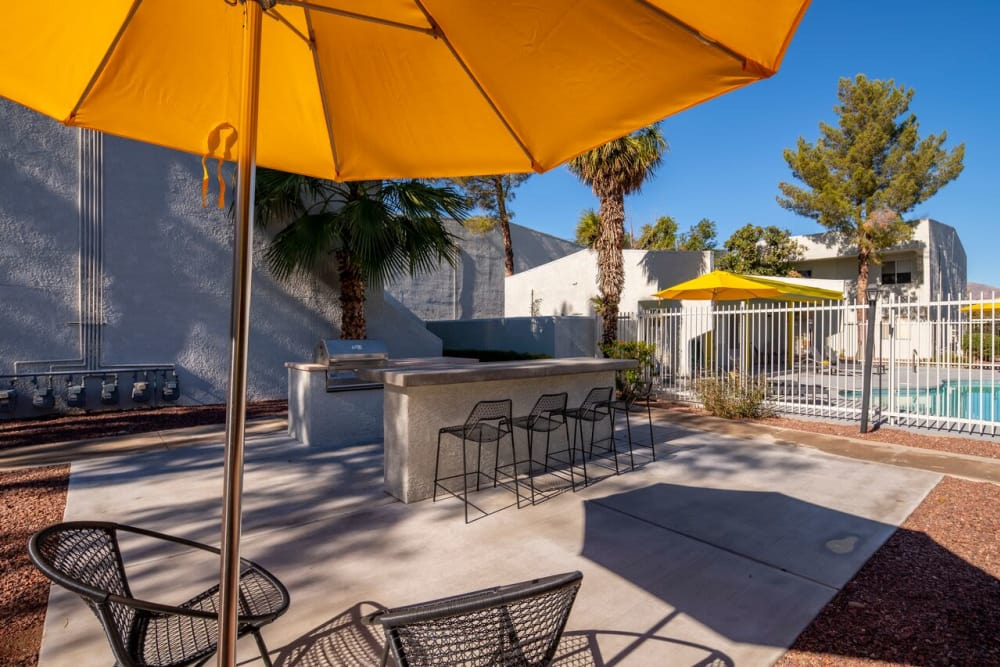 Our luxury apartments in Tucson, Arizona showcase a swimming pool