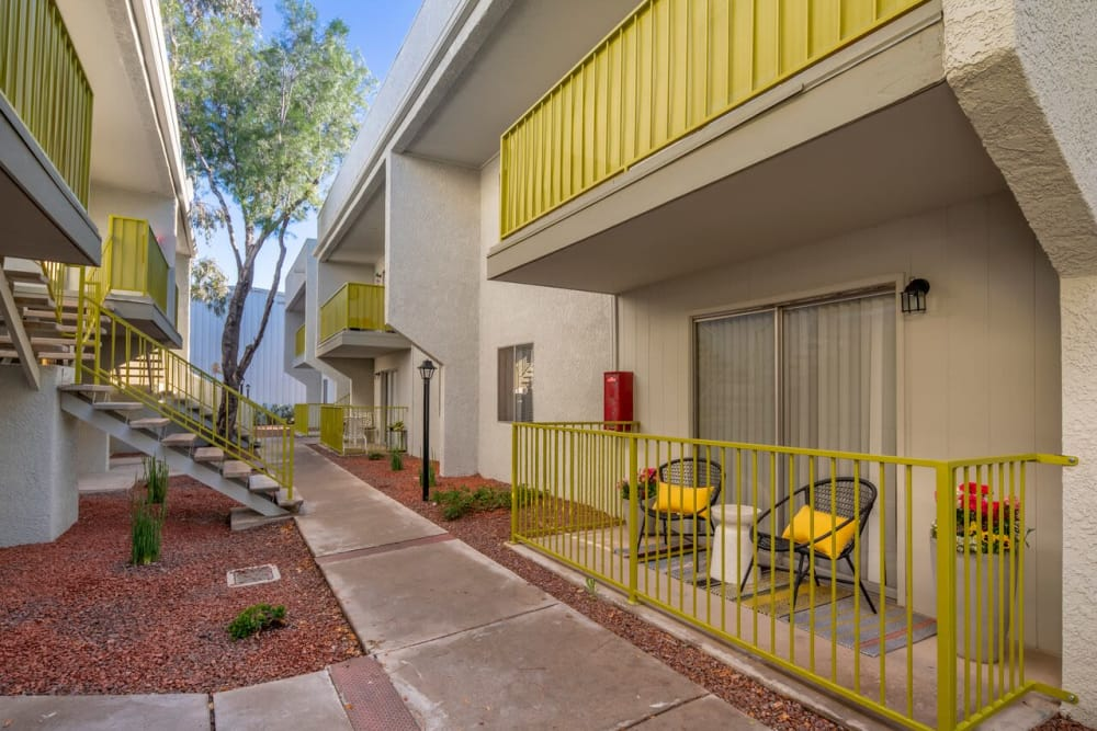 Enjoy our beautiful apartments walking paths at Latitude 32