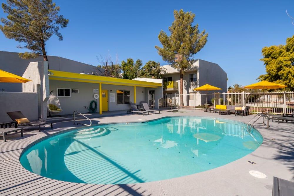 Luxury swimming pool at Latitude 32 in Tucson, Arizona