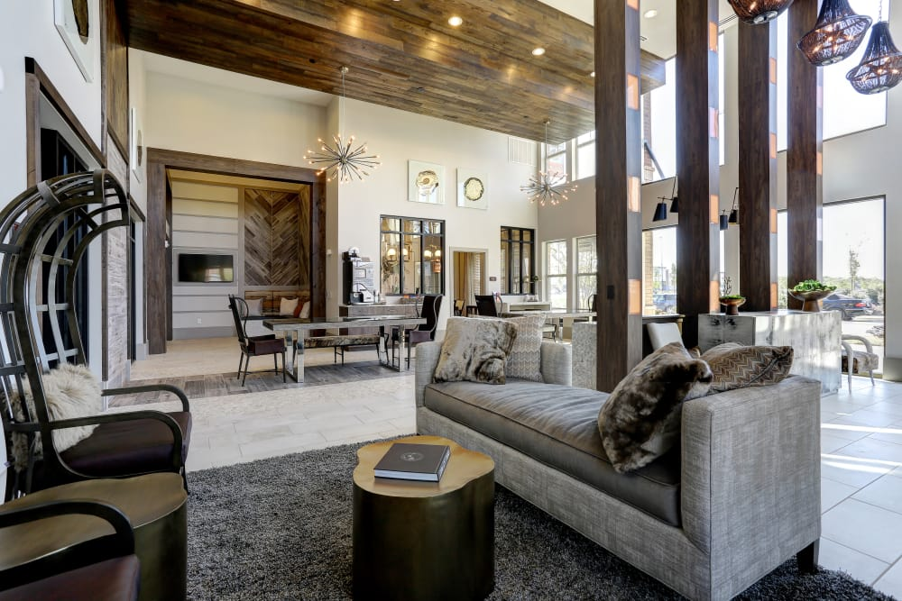 Luxury clubhouse at Novel Bellevue in Nashville